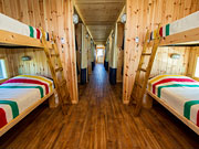 Tundra Buggy Lodge - Cozy sleeping quarters