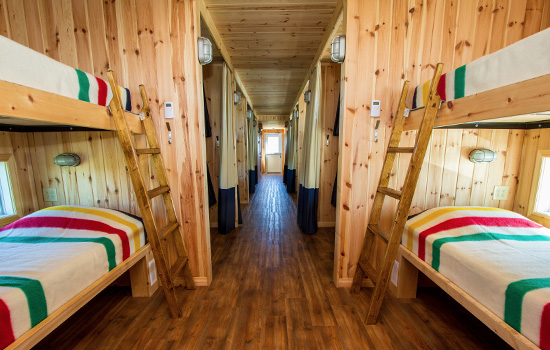 Accommodation onboard the Tundra buggy lodge