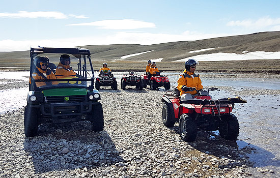 Explore the arctic on an ATV tour