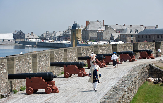 The historical Fortress of Louisbourg