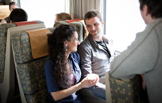 Onboard VIA RAil's Corridor train