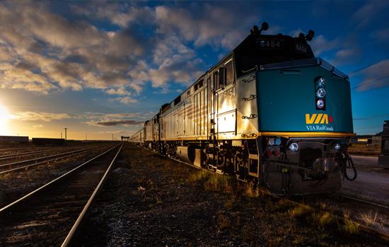 VIA RAil train arrives in Churchill